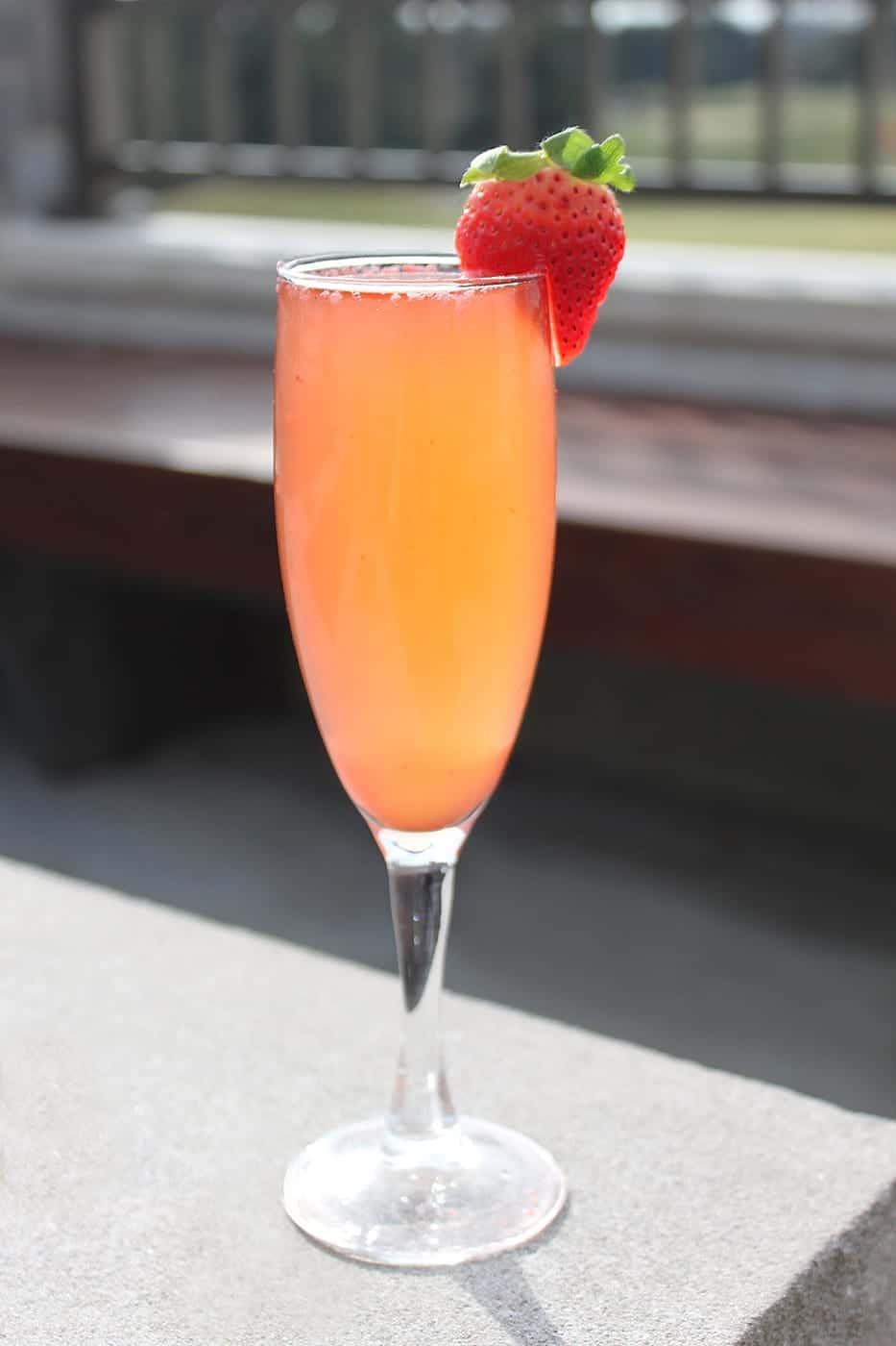 Blushing Bride Bellini drink.