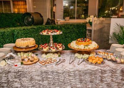 Dessert choices at Rachel and Joe's wedding.