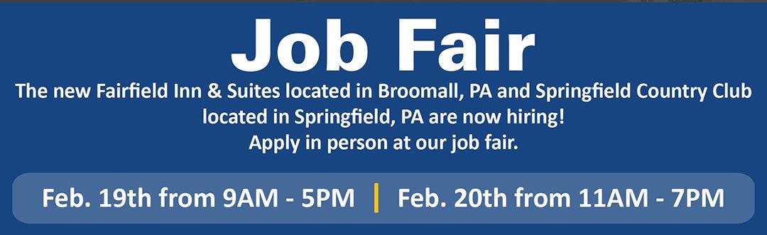 Job Fair – Feb. 19th and Feb. 20th