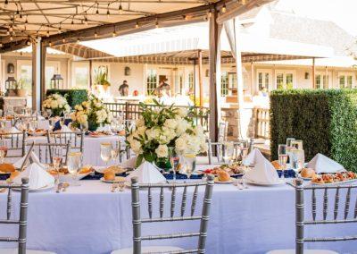 Rachel and Joe outdoor wedding reception table 2