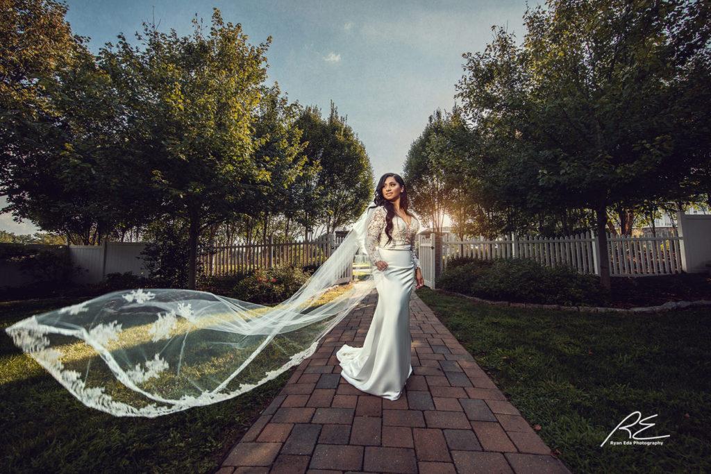 wedding trend dramatic veils