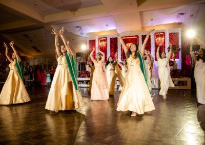 Women dancing at Indian Wedding.