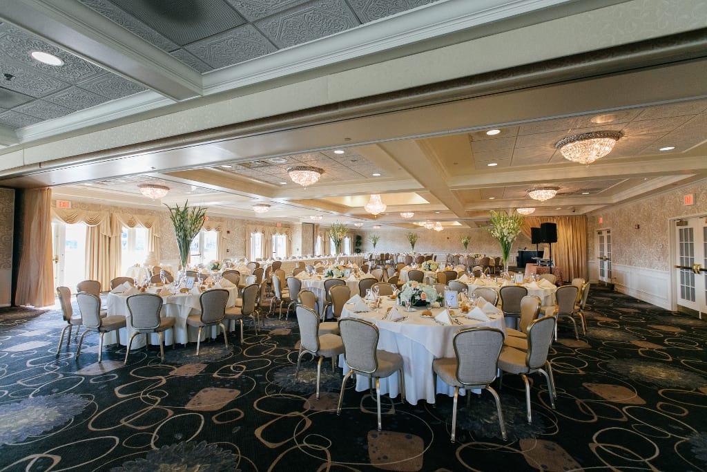 The Golf View Ballroom setup for a banquet